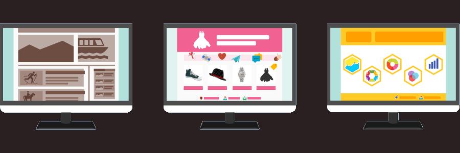Stylized representation of websites